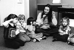 Children Learning Sign Language at Alpha House